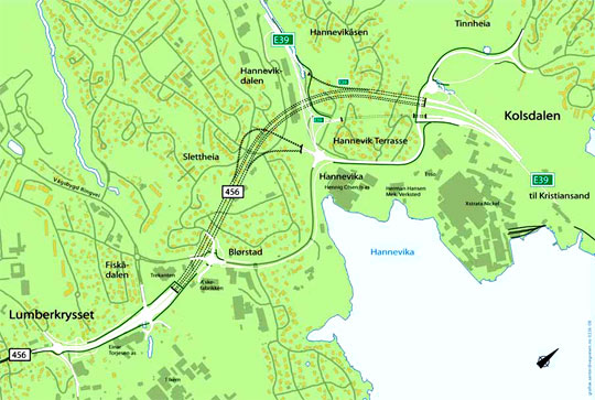 Plan for Kolsdalen og Hannevikdalen